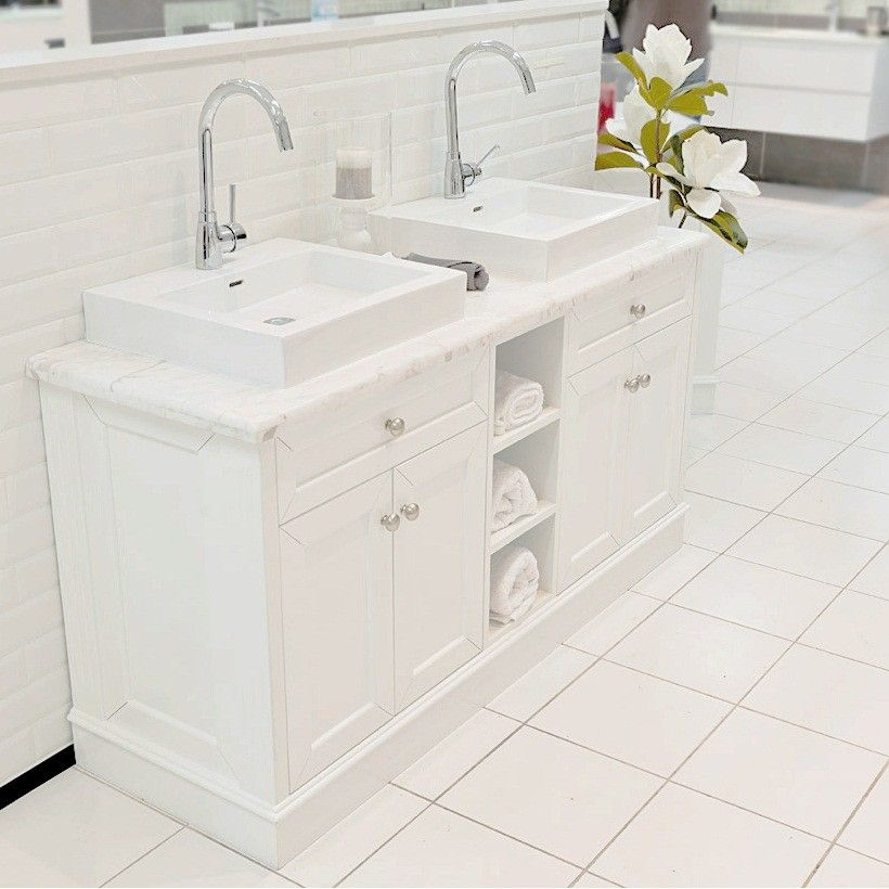 Allure Bathrooms | Classic White 1500 Marble Top Vanity