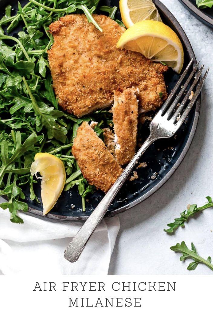 Air Fryer Chicken Milanese with Arugula Recipe Chicken