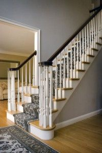 Carpet Runner And Solid Stairs