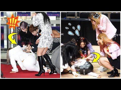 Kpop Female Idols Accident Fall And Faint Youtube Idol Kpop Music Albums