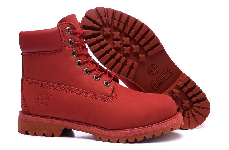 Red Timberland For Men Boots 095ed32e4