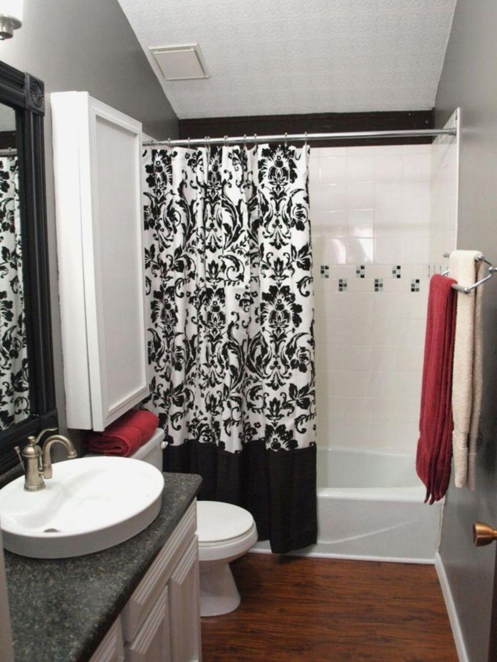 Nice 42 Por Red Black And White Bathroom Decor Ideas