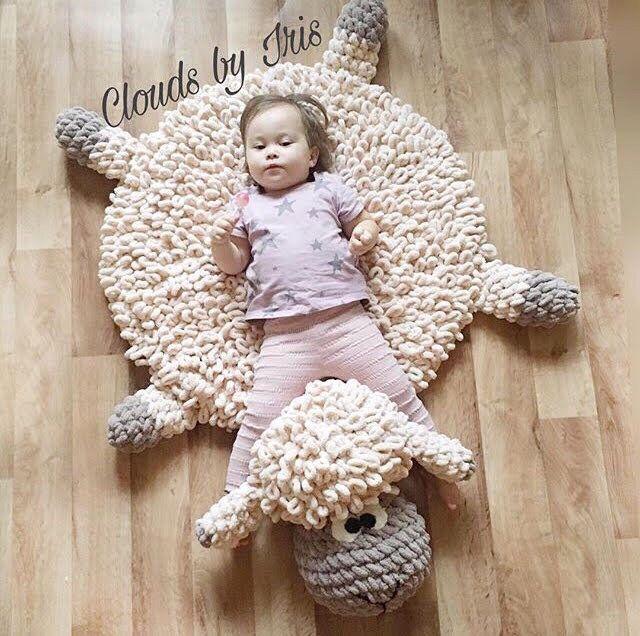 Crochet Mat Pattern The Lamb Mat Gift Idea Etsy Haken