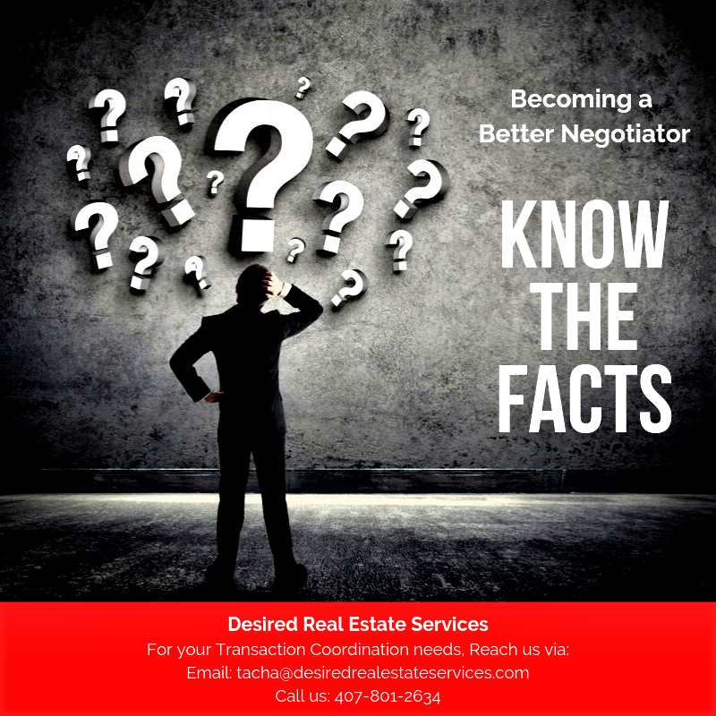 Becoming A Better Negotiator 1 Know The Facts Talk To A
