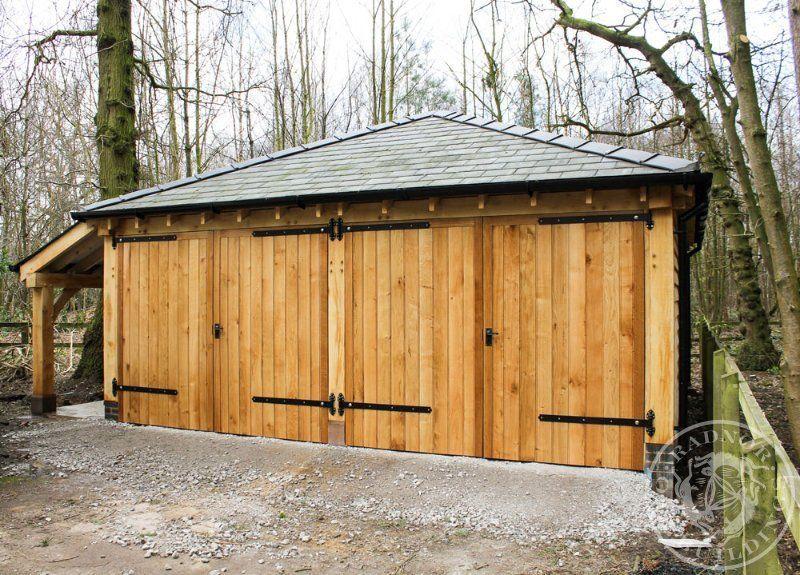 Wooden Garages Https Www Pineca Com Prefab Wooden Garages Html Wooden Garage Garage Double Garage