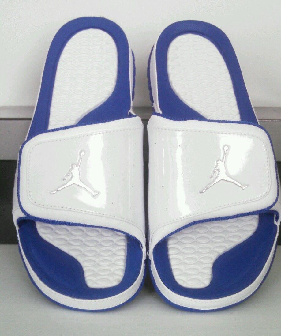 in stock 32839 b5756 New Nike Jordan Hydro 2 Sandals Mens Sz 10 Shoes Slides White Royal Blue