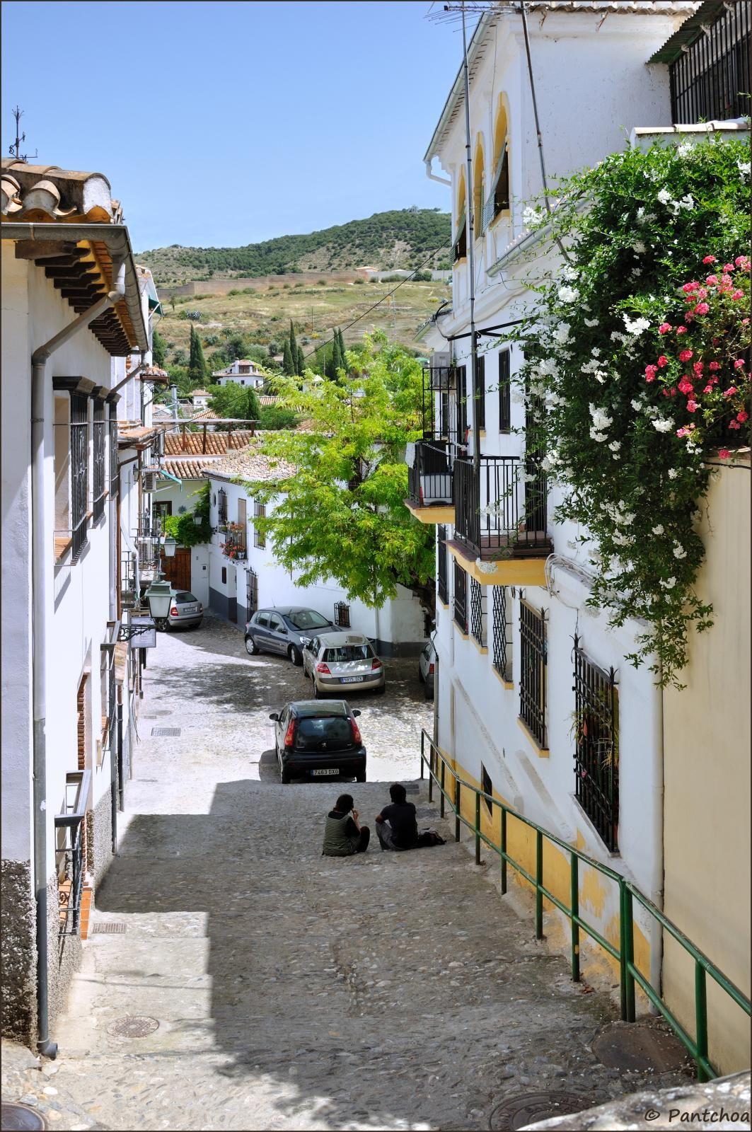 Street in El Albayzín (also Albaicín or El Albaicín) is a district of Granada, in the autonomous community of Andalusia_ Spain