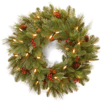 The Holiday Aisle Noelle 24 Pre Lit Wreath Christmas Wreaths With Lights Pre Lit Christmas Wreaths Artificial Christmas Wreaths Pre lit battery operated christmas wreath