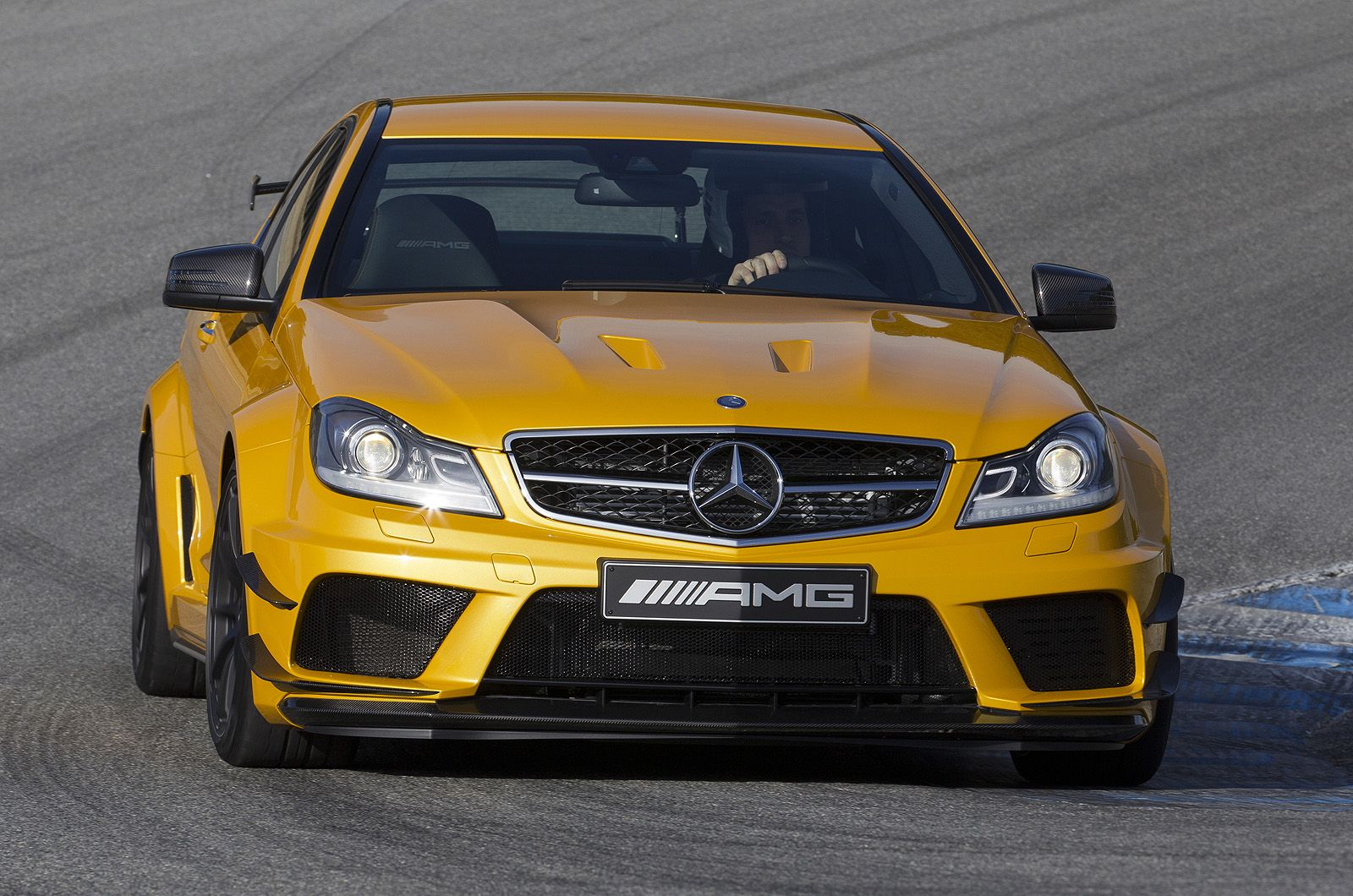 Mercedes C63 Amg Black Series Coupe In Yellow With Images