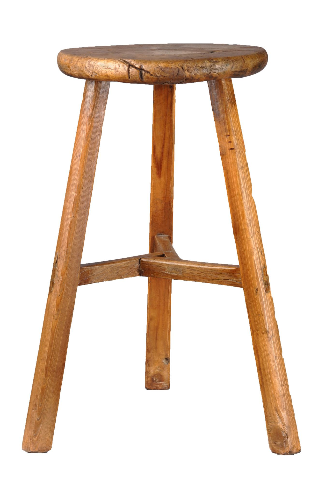 Antique Revival Farm Style 3 Legged Stool Wayfair