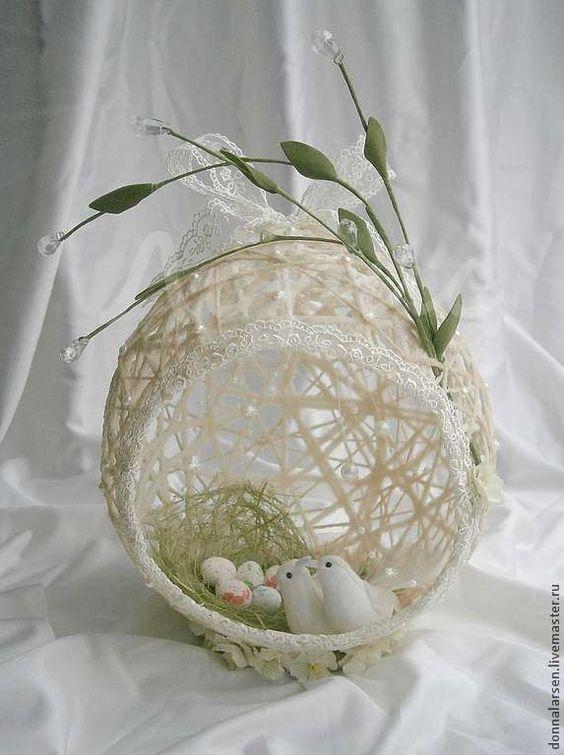 Bellas decoraciones con esferas de hilo figuras para for Decoraciones navidenas para hacer en casa