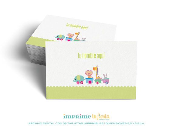 Printable Business Cards Design For Kids By Imprimetufiesta