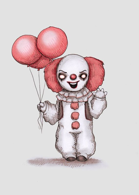Scary 4th Of July Clown With Images Drawings Cartoon