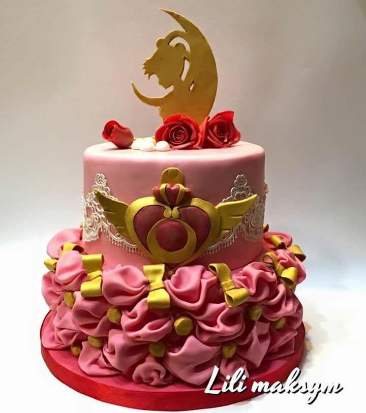 Button Moon Birthday Cake