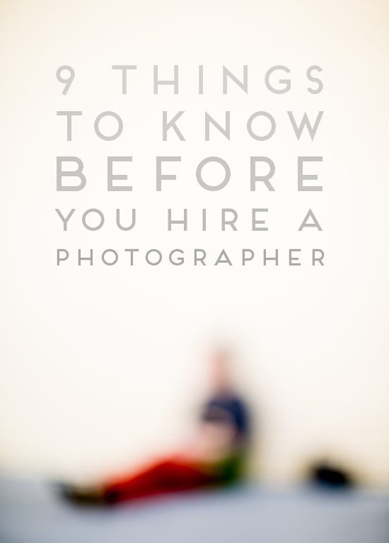 Behind the Scenes: Hiring a Photographer   Photography   Photography