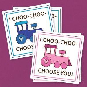 Kids Valentines Preschool Valentines Valentines For Class Train Valentines Valentines For Daycare I Choo-Choose You To Be My Valentine