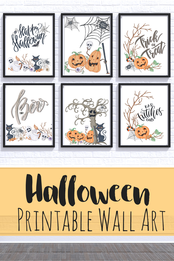 Download These Fun Halloween Wall Art Printables For Simple And