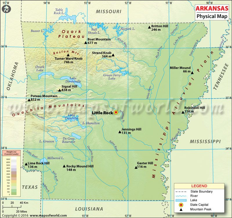 Physical Map Of Arkansas USA Maps Pinterest Map Of Arkansas - Map of arkansas