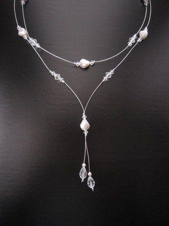 White Wedding Bridesmaids Bridal Jewelry Silver Crystal