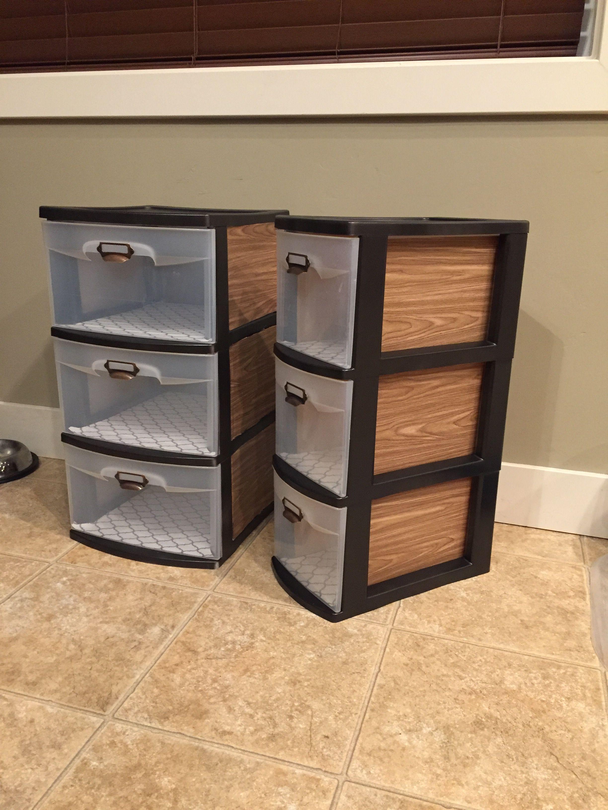 diy q and b at drawer departments drawers unit plastic black pin tower