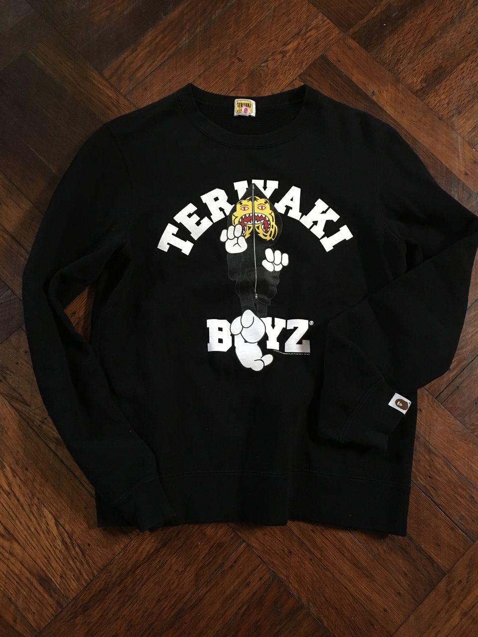 9ab1bafe1 Bape Bape Teriyaki Boyz Crewneck Size S $112 - Grailed | Bape | Bape ...