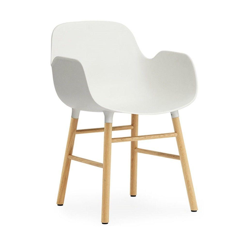 Normann Copenhagen Form Armchair Oak Contemporary Plastic Shell Armchair With Oak Legs Embrace The Soulf Scandinavian Furniture Design Oak Armchair Normann