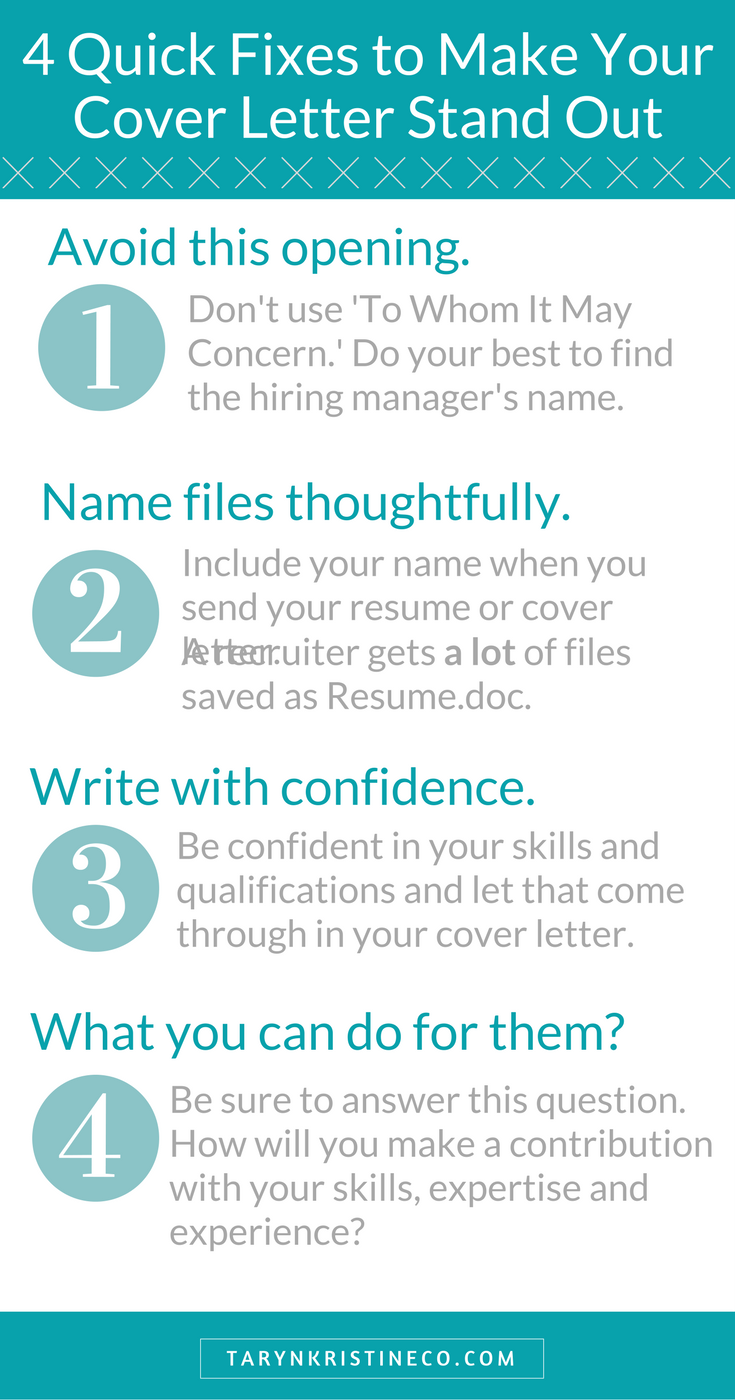 Cover Letter Advice Beauteous Four Quick Fixes To Make Your Cover Letter Stand Out  Cover Decorating Inspiration