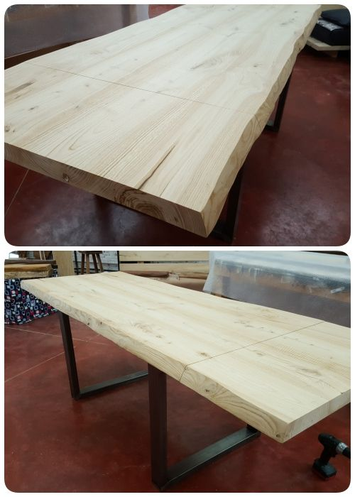 tavolo da cucina allungabile in legno massello, tavolo da cucina in ...