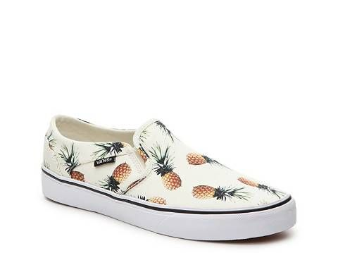 60521b709a Vans Asher Pineapple Slip-On Sneaker