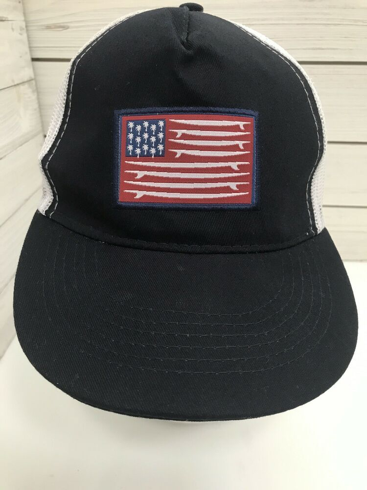 American Flag Surfboard Palm Tree Red White Blue Mesh Trucker Hat Snapback Ebay In 2020 Mesh Trucker Hat Trucker Hat Red White Blue