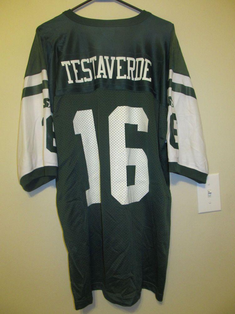 002611ca Details about Vintage VINNY TESTAVERDE New York Jets NFL Starter ...
