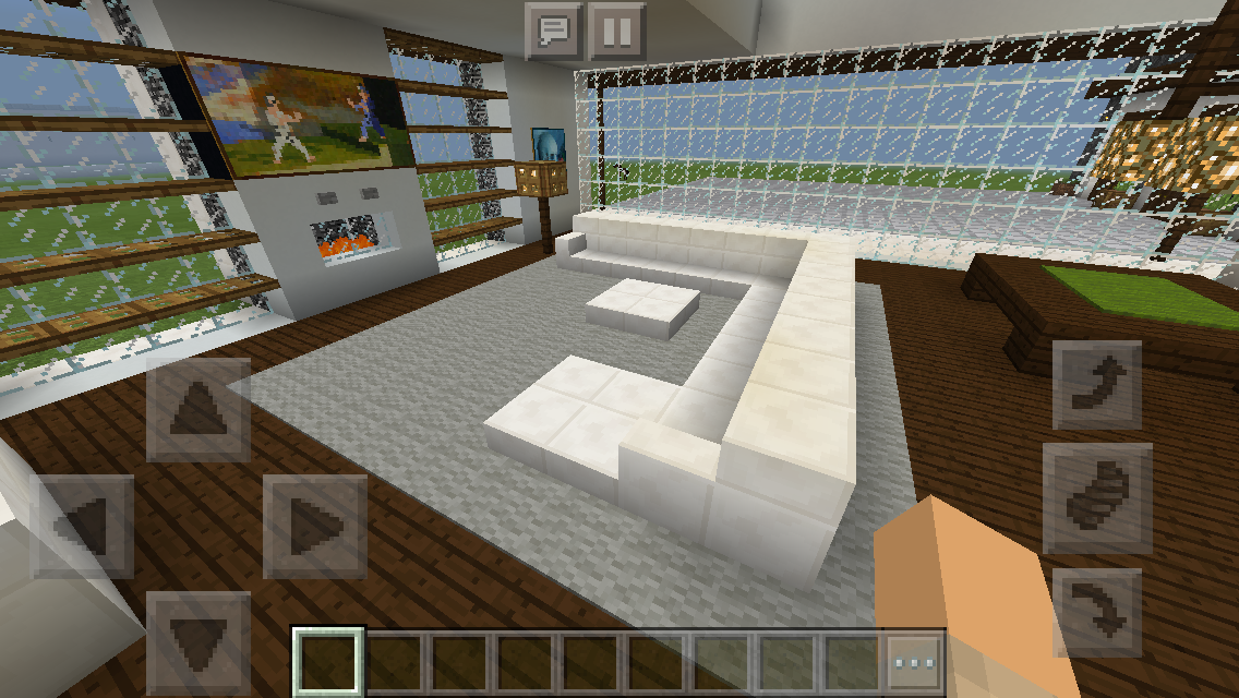 Modern House Family Room Minecraft Interior Design Architecture Houses Also  Rh Pinterest