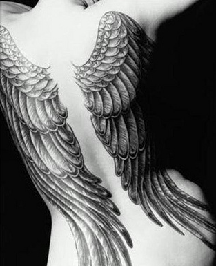 Wing tattoo. #tattoo