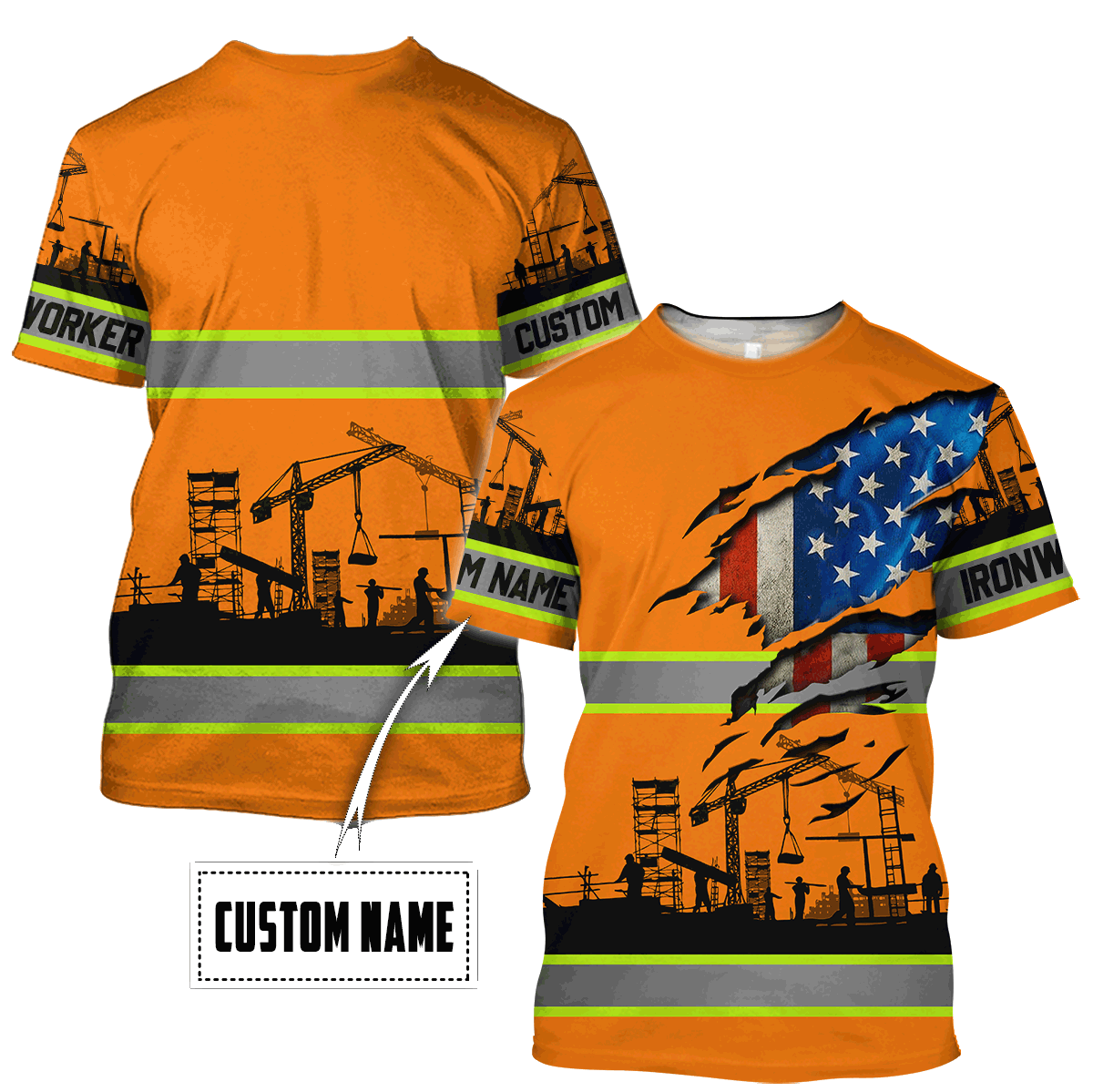 Personalized Ironworker 3D All Over Printed Unisex Shirts TN - T-shirt / S