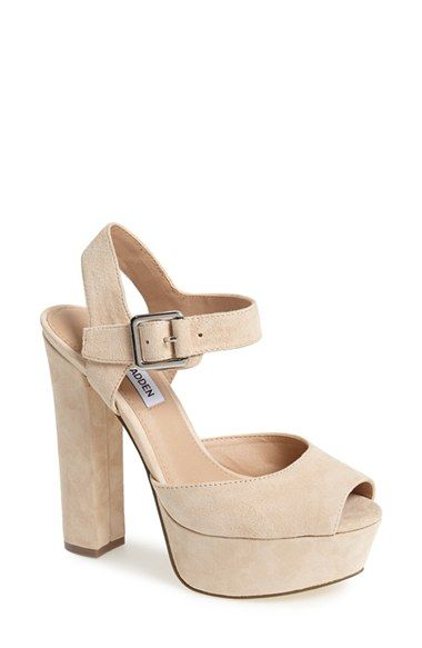 3134d08529d Steve Madden  Jillyy  Platform Sandal (Women) at Nordstrom.com. Plush suede  shapes a striking peep-toe platform that packs plenty of  90s attitude.