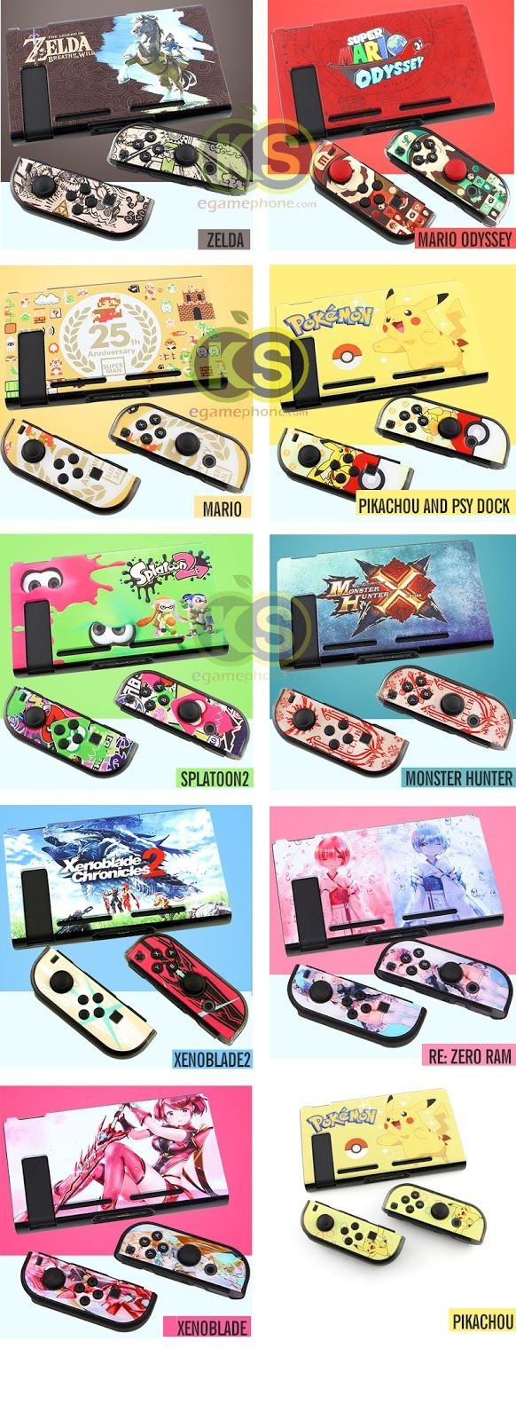10 Game Themes Limited Edition 3 Part Design For Nintendo Switch Splatoon2 Hard Case Ink X Squid Hori Matte Protective Cover Skin Shell Travel Set Splatoon 2 Monster Zelda