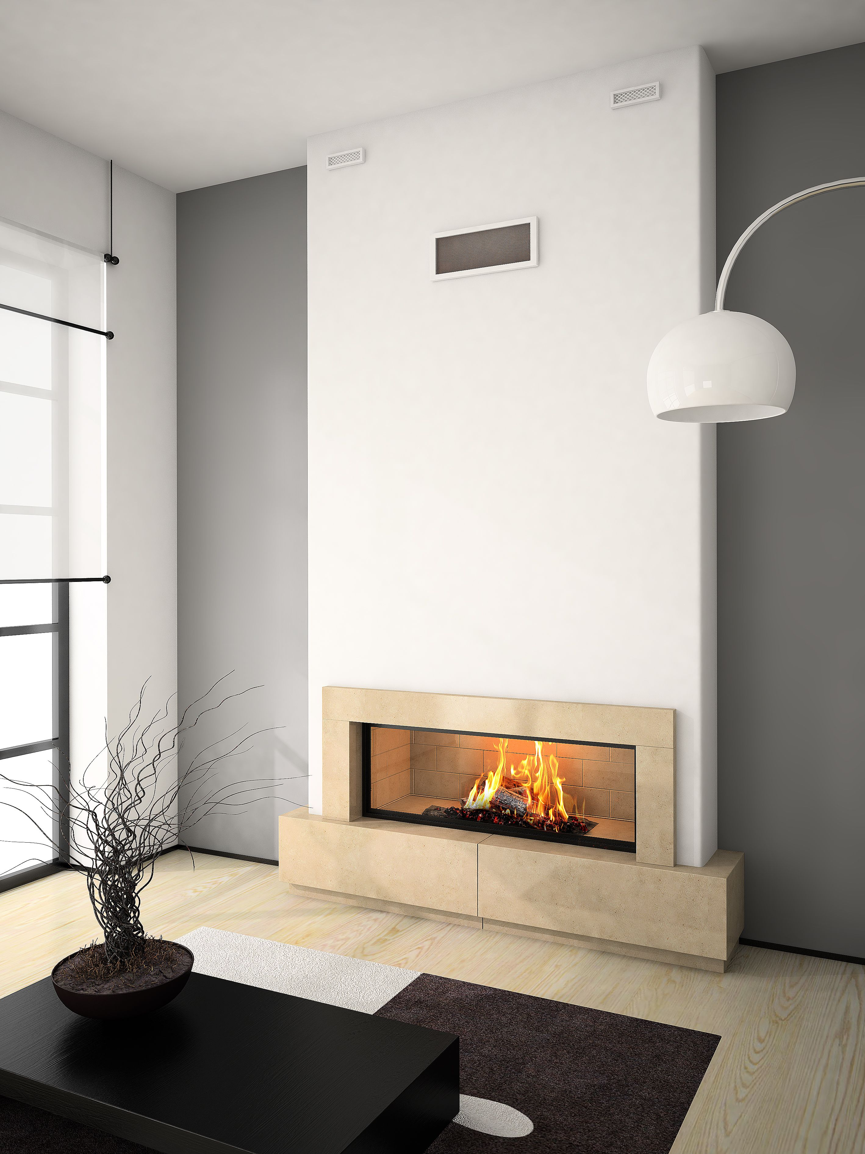 AXIS H1600 Contemporary inbuilt fireplace The handmade excellence of ...