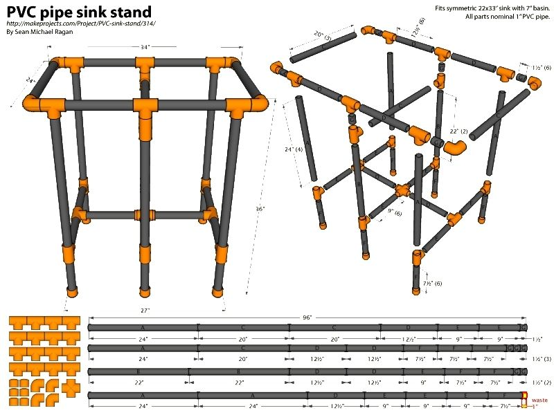 Pvc outdoor camping sink plan repurposed pvc pipe for Pvc pipe chair plans