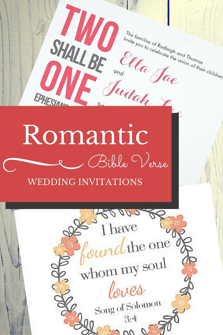 9 Romantic Bible Verse Wedding Invitations that Work for Interfaith ...