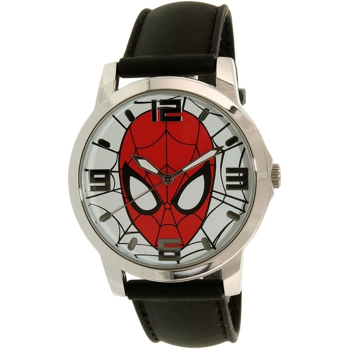 Disney Ultimate Spider-Man SPMAQ579 Black /Stainless Steel Analog Quartz Men's Watch