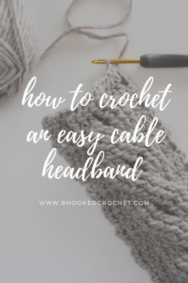 Easy cable crochet headband crochet crocheted headbands and easy cable crochet headband baditri Image collections