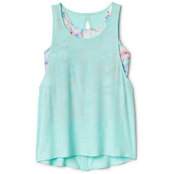 5f4ff5a5767fb Athleta Girl Twice as Nice Tank ( 39) ❤ liked on Polyvore featuring tops