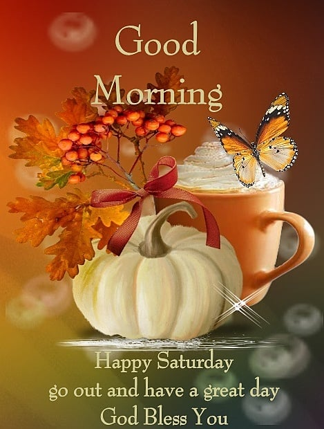 Good Morning Happy Saturday Go Out And Have A Great Day God Bless You In 2020 Happy Thanksgiving Quotes Good Morning Happy Good Morning Happy Saturday
