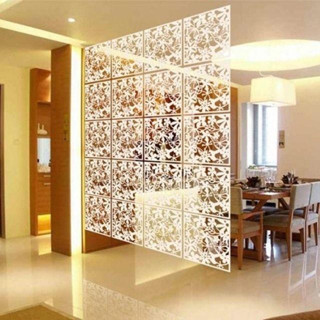 12Pcs Black Living Room Divider Hanging Screen Curtain Partition Panel DIY Decor