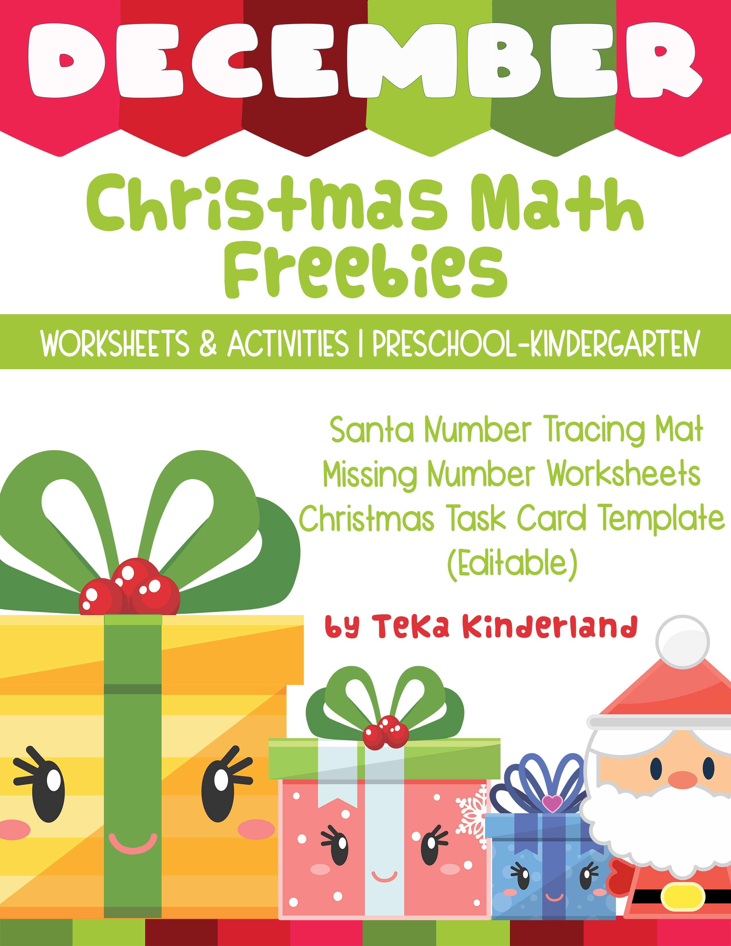Free Christmas Math Worksheets And Activities