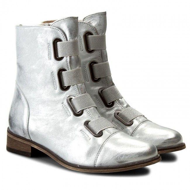 Botki Eksbut 4290 369 1g Srebrny Boots Army Boot Shoes