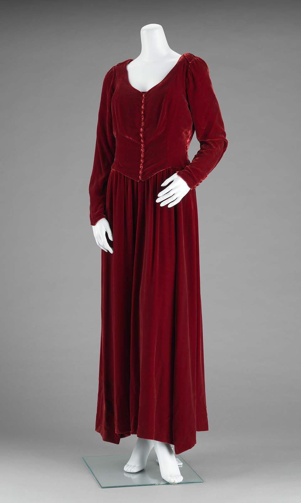 Mid 1930s, America - Woman's ensemble - Silk velvet