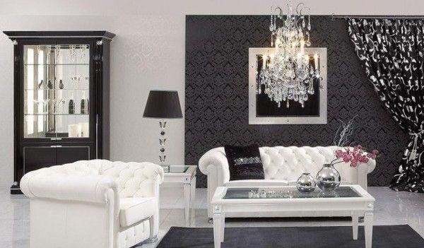 Salone Stile Barocco Bianco e nero! Ecco 9 idee… | Idee ...