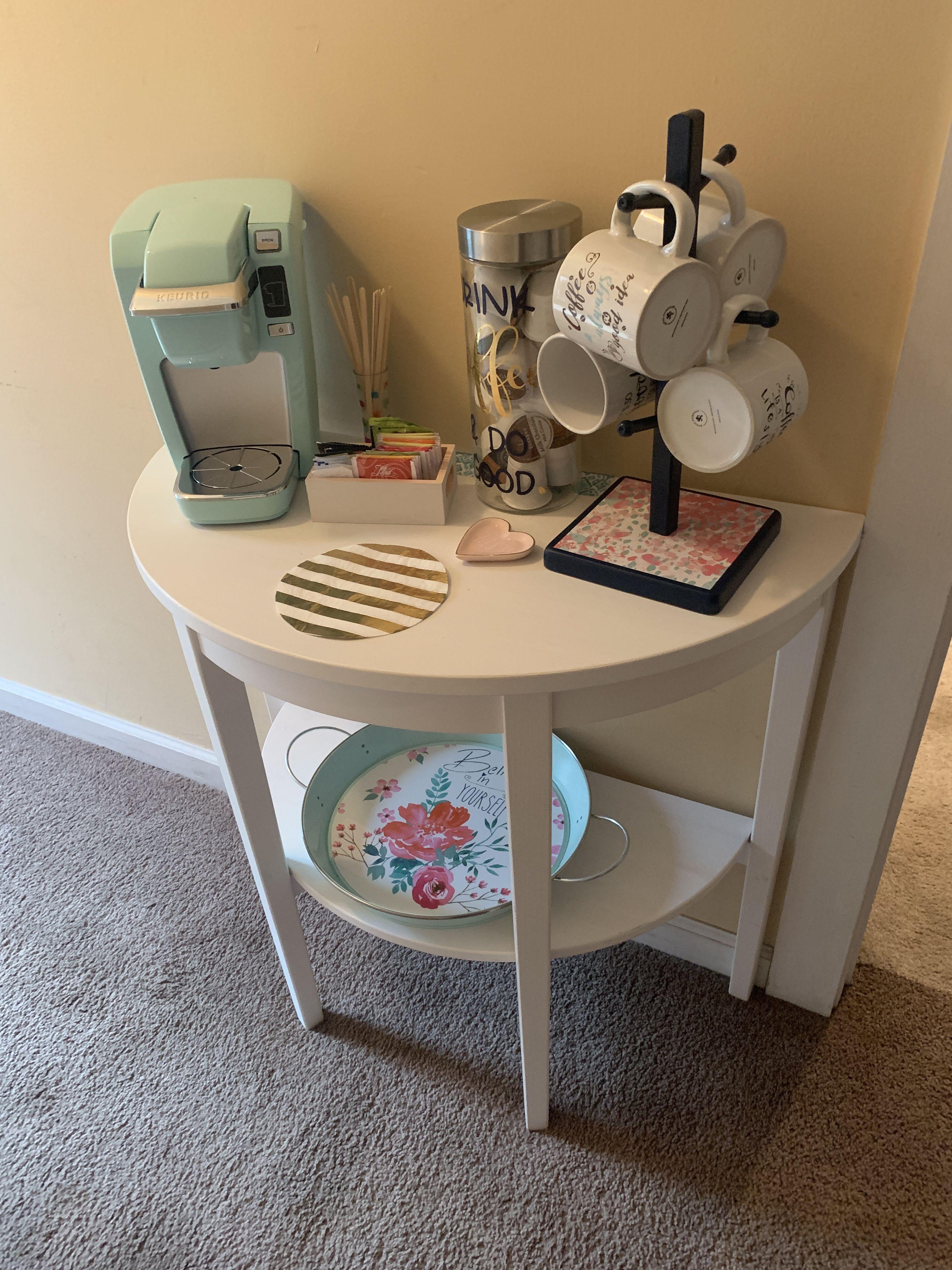 Coffee Corner Teal Keurig Office Coffee Ikea Table Coffee Bar Home Coffee Corner Office Coffee