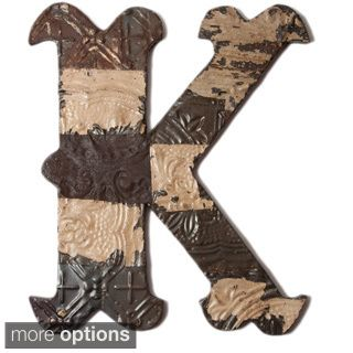 Metal letter k wall decor